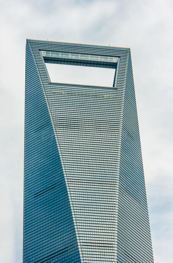 Architecture details Shanghai World Financial Center pudong shanghai china. Architecture details skyscrapers building Shanghai World Financial Center pudong stock image