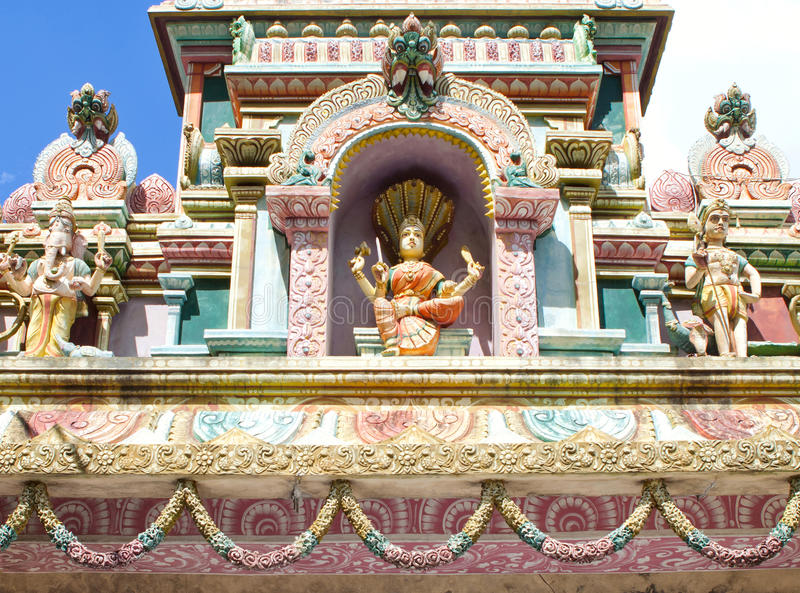 Architecture details of traditional Hindu temple royalty free stock images