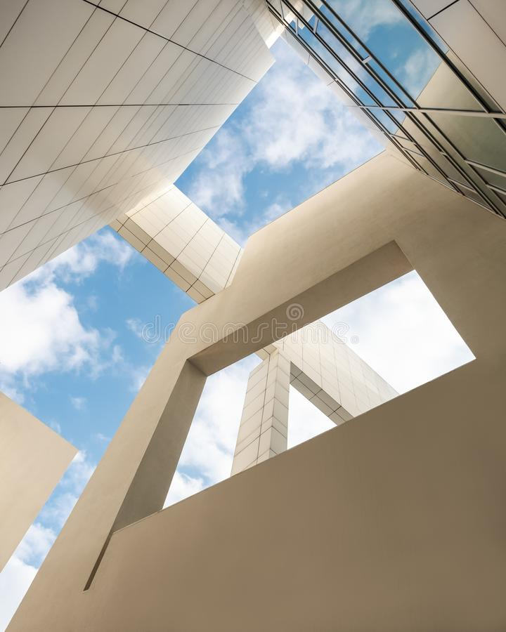 Free Architecture Details White Wall Modern Building Blue Sky Perspective Royalty Free Stock Photos - 163607638