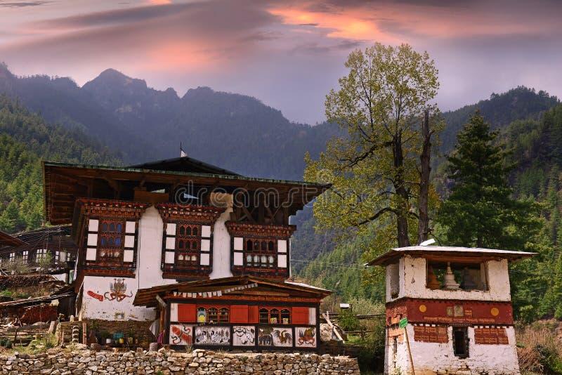 Architecture du Bhutan image stock