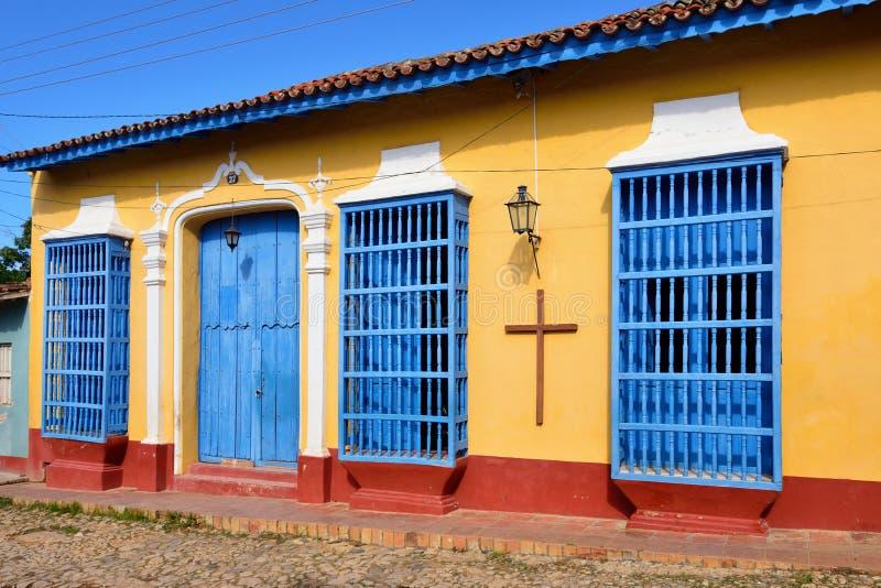 Architecture du Trinidad sur le Cuba images libres de droits