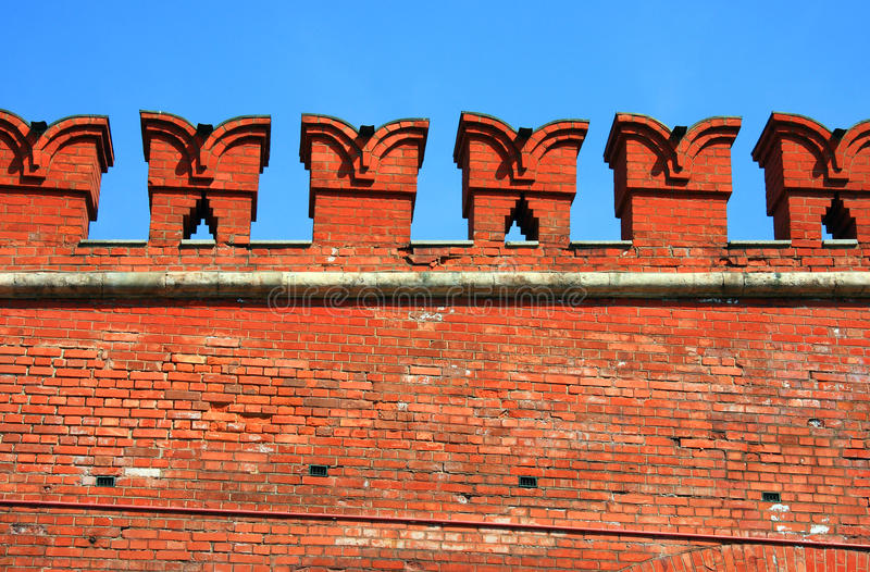 Download Architecture Elements Of Kremlin Wall In Moscow Stock Image - Image: 9448139