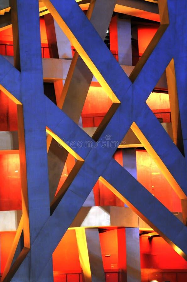 Architecture en acier de la construction moderne photos libres de droits