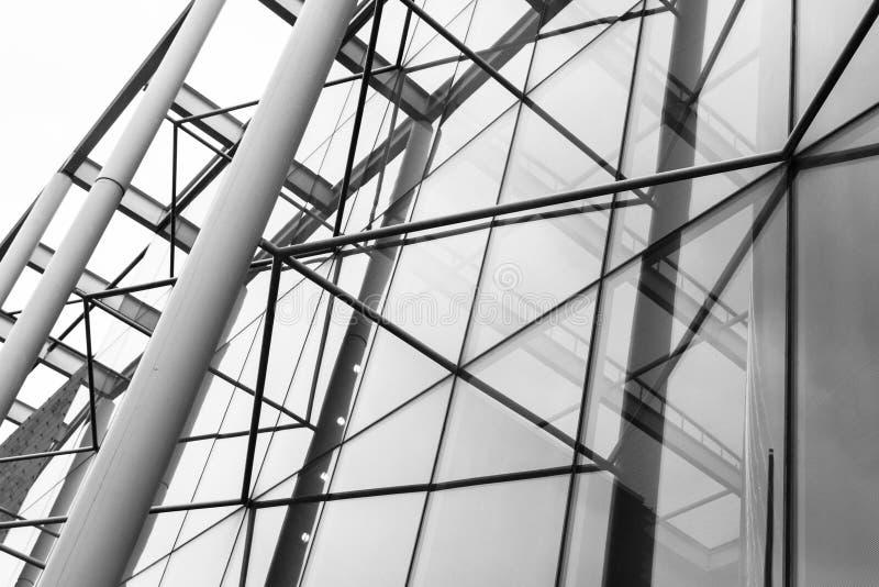 Architecture en acier en verre moderne photographie stock