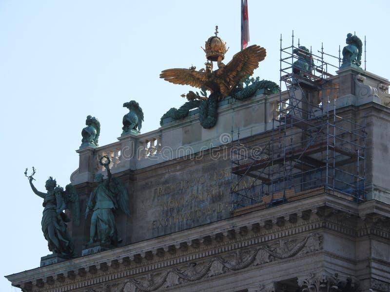 Architecture en pierre des façades de maison et des monuments, Vienne, Autriche images libres de droits