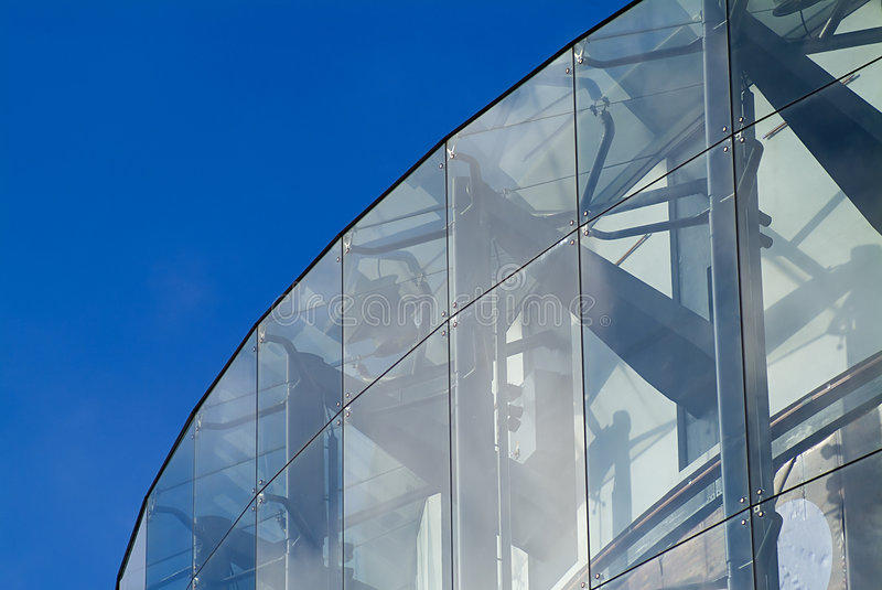 Architecture en verre photo stock image du courbe fa for Architecture courbe