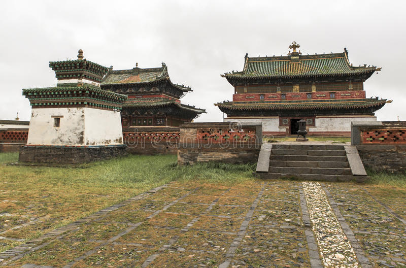 Architecture of Erdene Zuu Monastery in Mongolia stock image