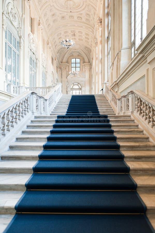 Architecture : Escalier de Palazzo Madama photographie stock