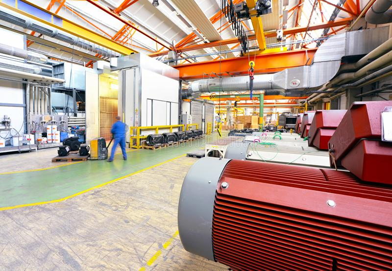 Architecture et équipement d'une usine pour l'engineeri mécanique image libre de droits