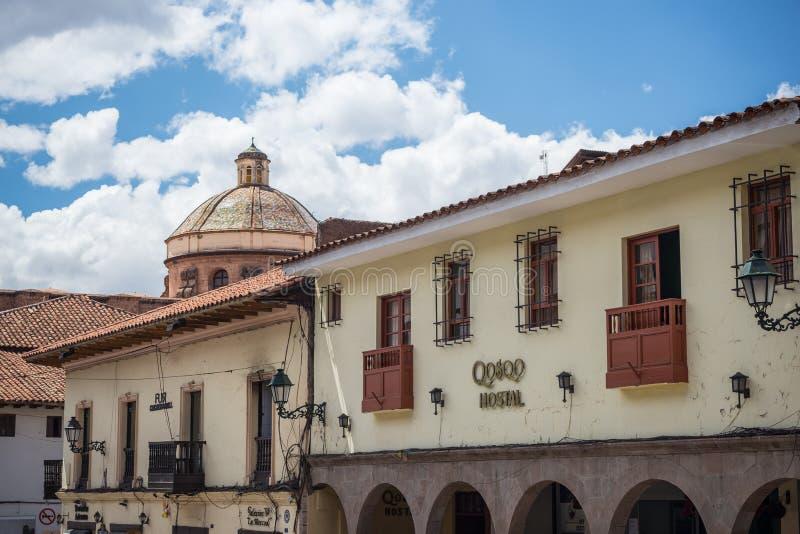 Architecture et paysage urbain coloniaux dans Cusco, Pérou, ancien capital d'Inca, destinatio célèbre de voyage image stock