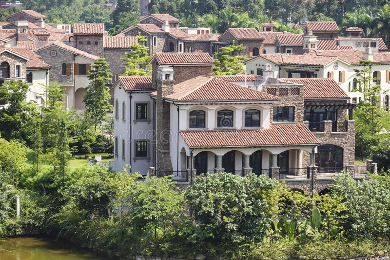 Architecture européenne de style, paysage de ville photo libre de droits