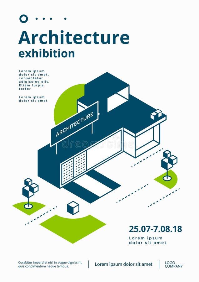 Architecture exhibition cover vector illustration