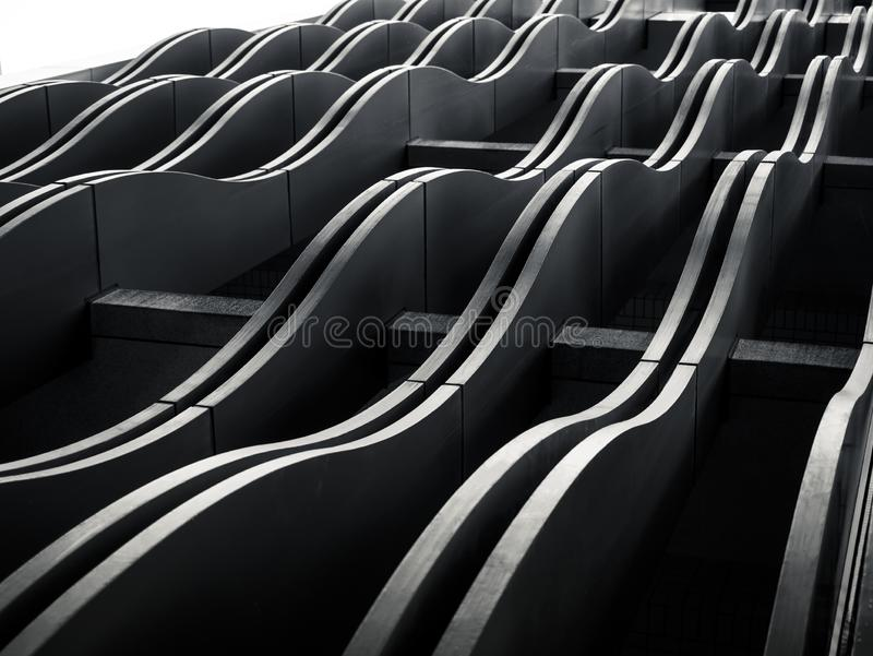 Architecture exterior Facade curve pattern Modern Building. Abstract background stock images