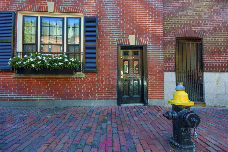 Architecture Federal Style Beacon Hill Boston Massachusetts. Boston, Massachusetts, USA - September 12, 2016: Federal style architecture on Beacon Hill, in royalty free stock photography