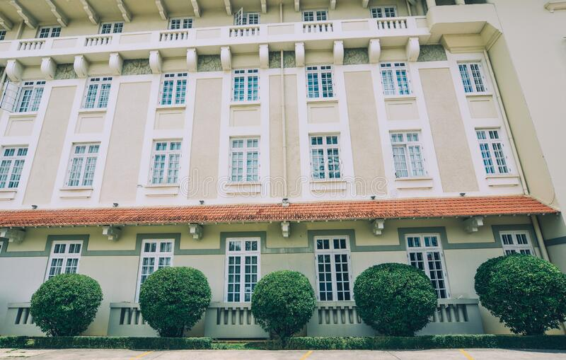 Architecture of French colonial building. In Dalat, Vietnam royalty free stock images