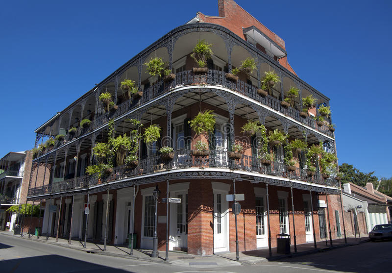 Architecture: French Quarter - New Orleans stock images