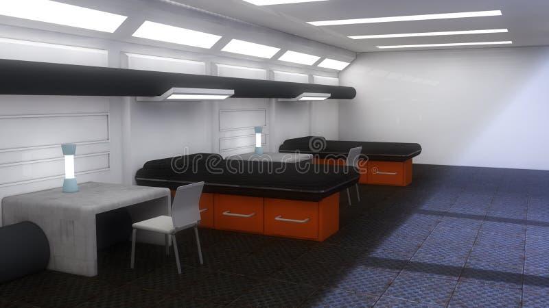 architecture futuriste d 39 int rieur de scifi illustration stock image 50750908. Black Bedroom Furniture Sets. Home Design Ideas
