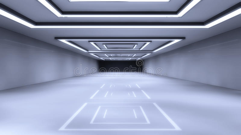 Architecture futuriste de hall illustration de vecteur