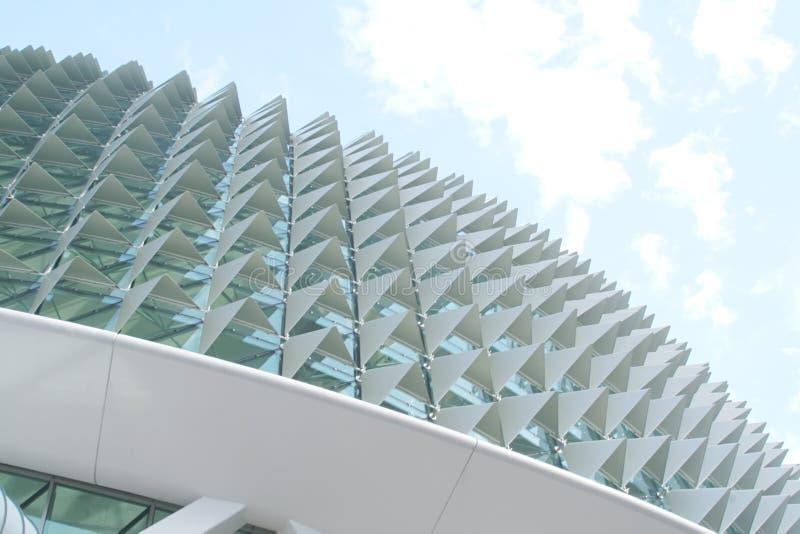 Architecture futuriste et seule photographie stock