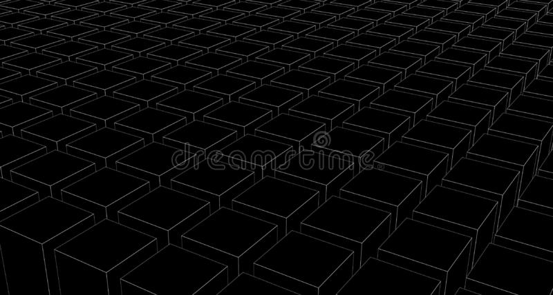 Architecture geometric wallpaper pattern abstract black background stock illustration