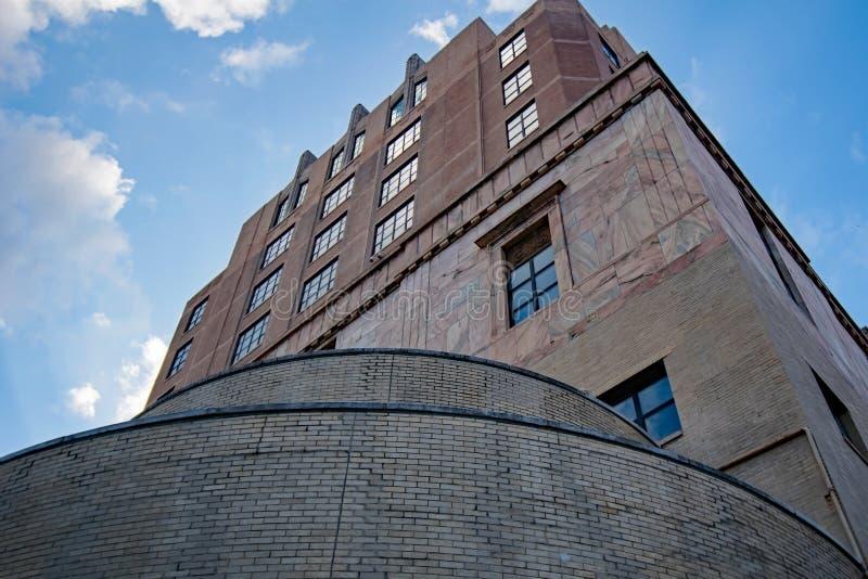 Architecture gothique de tribunal du centre d'Asheville images libres de droits