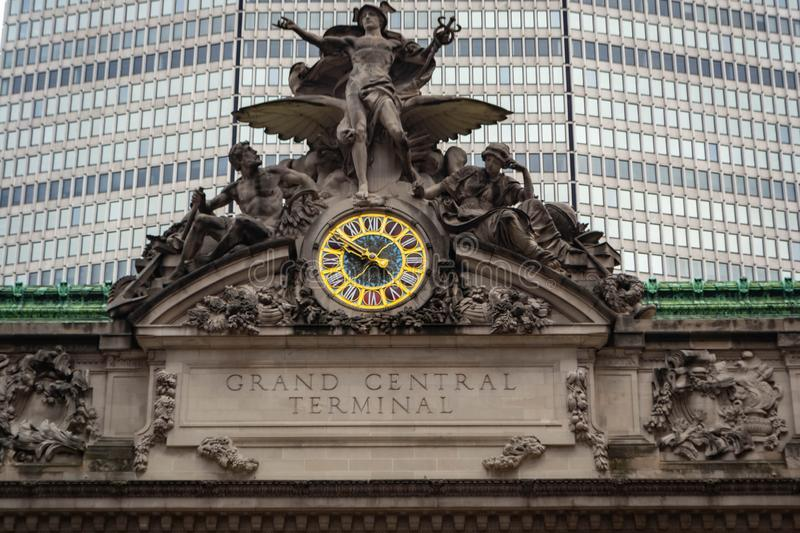 The architecture of the Grand Central Terminal in New York city, USA stock image