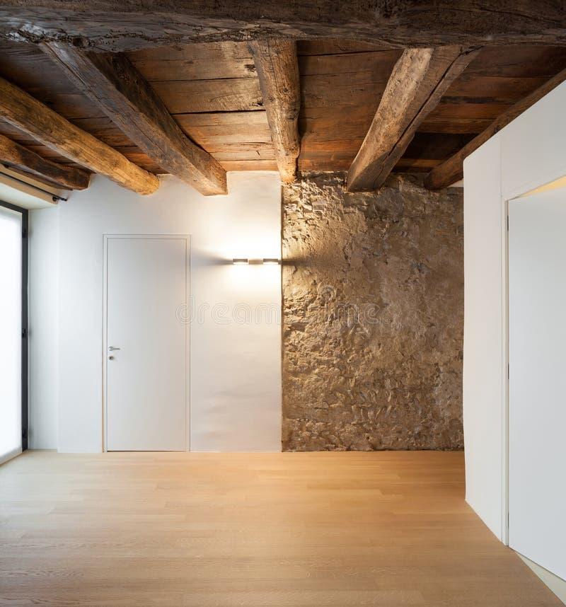 Architecture hall of a rustic loft stock photo image of for Ristrutturazioni case moderne