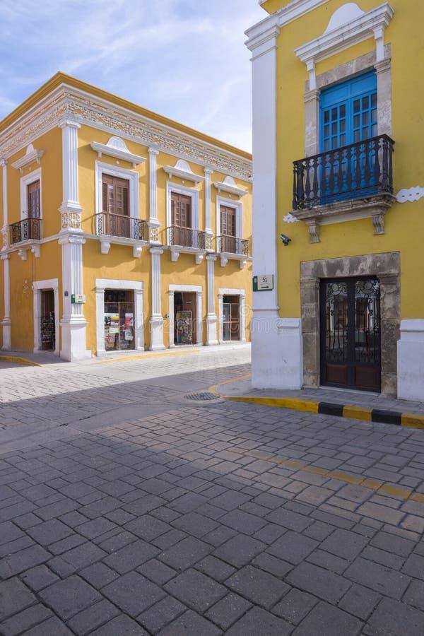 Architecture historique de Campeche du centre photo libre de droits