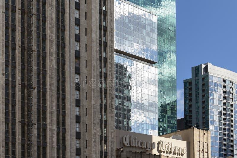 Architecture historique et moderne de Chicago image stock