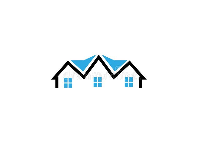 Architecture for home and houses for logo design. Illustration, vector icon vector illustration