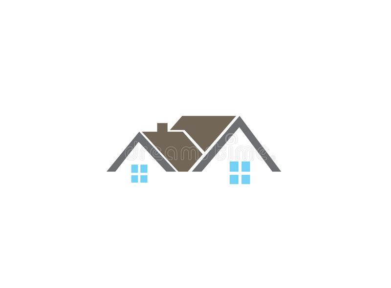 Architecture for home and houses for logo design illustration. Rent and sale icon stock illustration