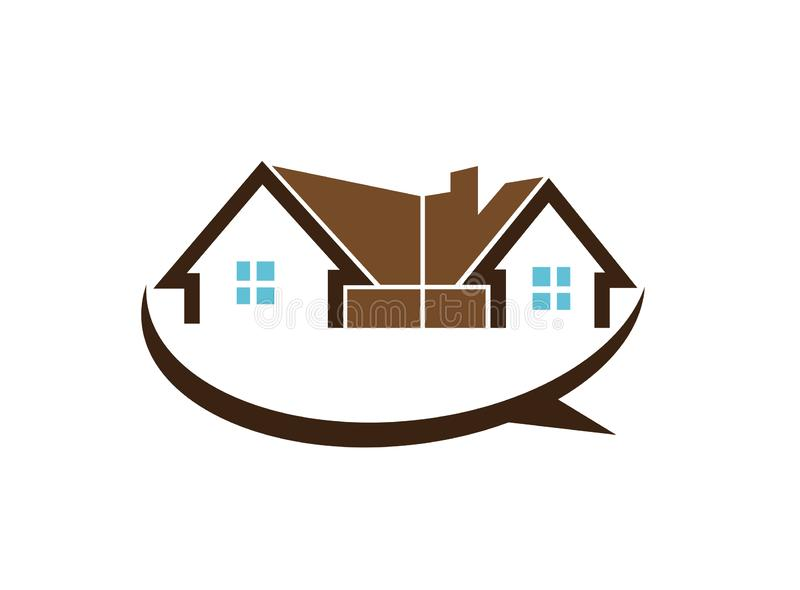 Architecture for home and houses for logo design illustration. Sale and rent houses royalty free illustration