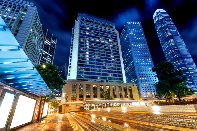 Download Architecture in Hong Kong stock image. Image of night - 32899811