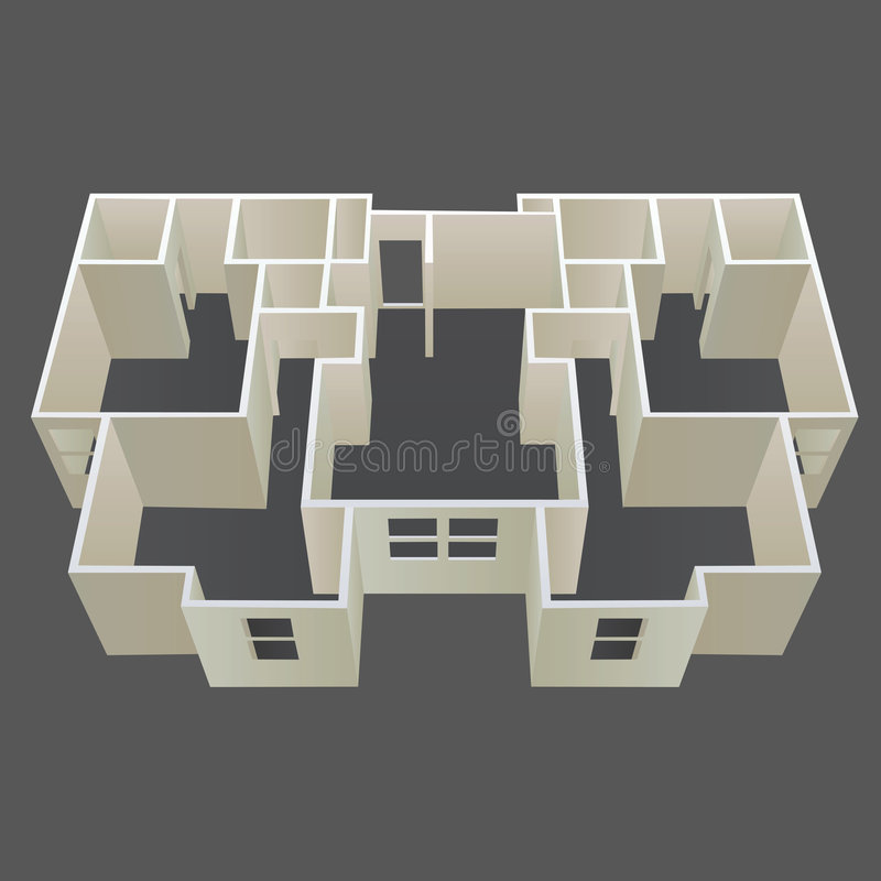 Architecture house plan vector vector illustration