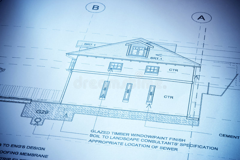 Architecture House Plans royalty free stock image