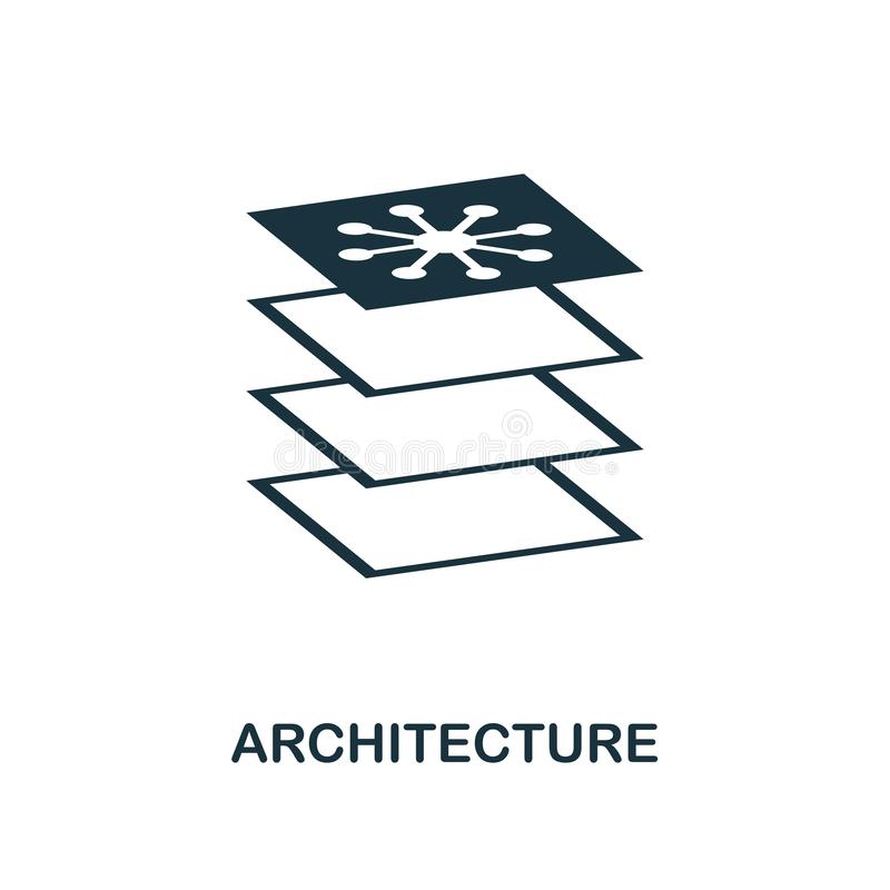 Architecture icon. Monochrome style design from machine learning icon collection. UI and UX. Pixel perfect architecture icon. For. Architecture icon. Monochrome vector illustration