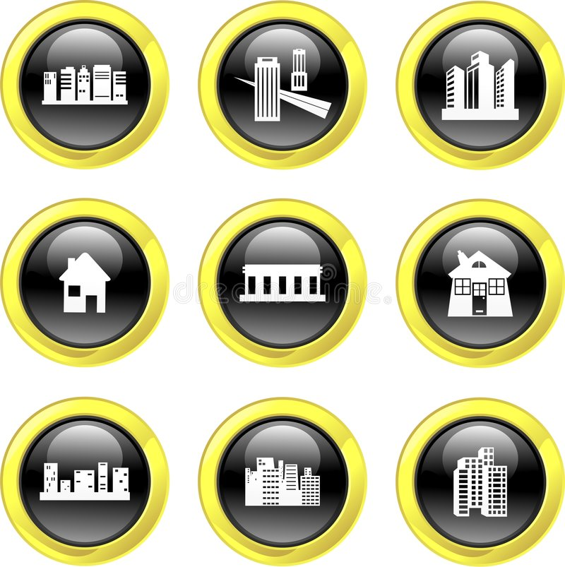 Architecture icons stock illustration