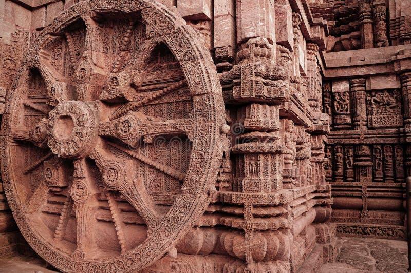 Architecture indienne antique chez Konark photo stock