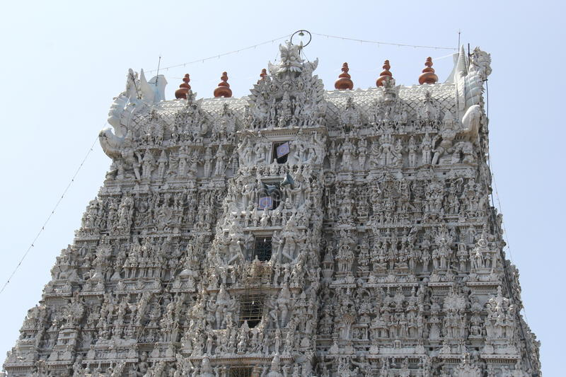 Architecture indienne de temple photographie stock libre de droits