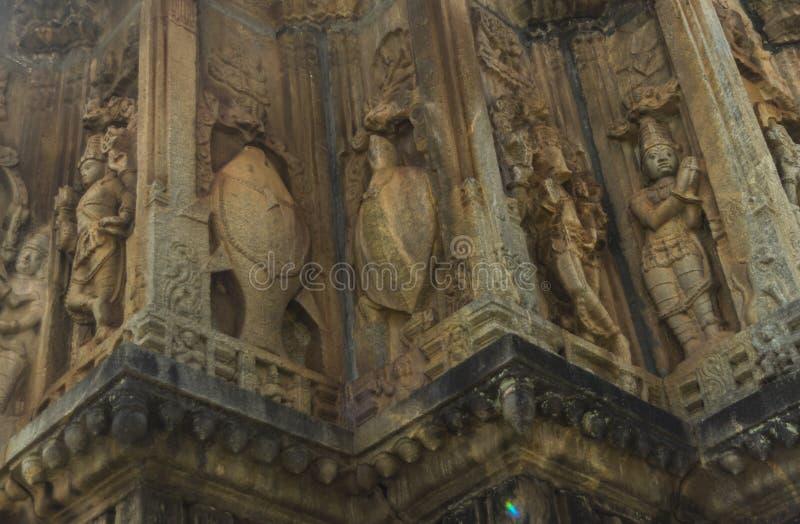 Architecture inside the Sringeri Temple stock photo