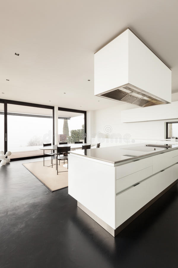 architecture int rieur d 39 une villa moderne photo stock image du cuisine maison 37961522. Black Bedroom Furniture Sets. Home Design Ideas