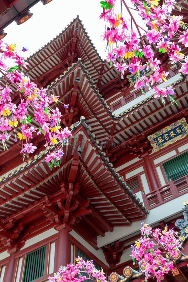 Architecture intérieure du temple de dent de relique de Buddhas photo stock