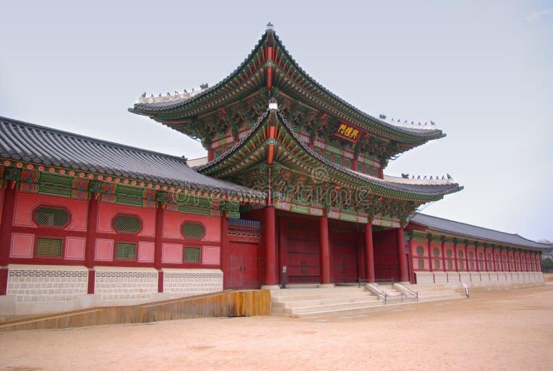 architecture korean traditional στοκ εικόνα