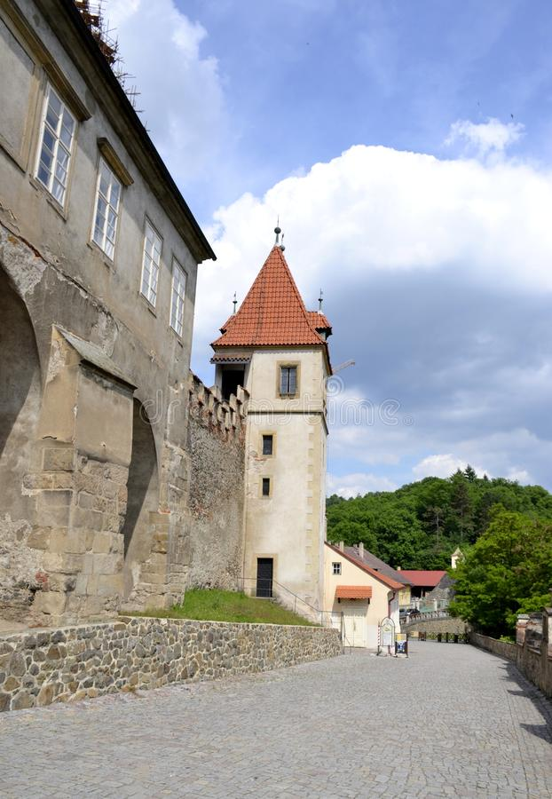 Architecture from Krivoklat castle royalty free stock photography