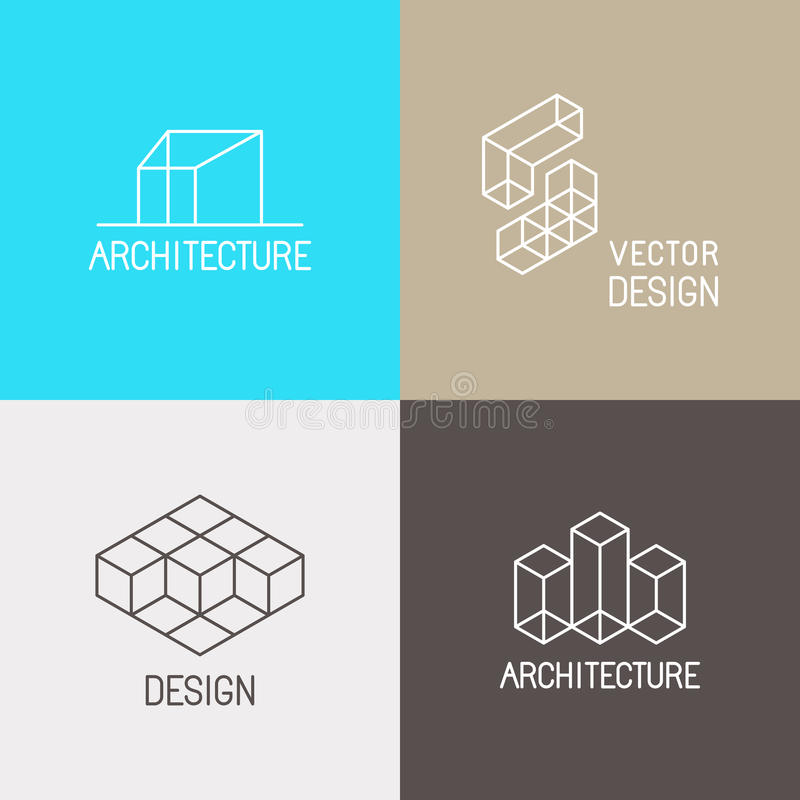 Architecture logos stock vector. Illustration of architectural ...