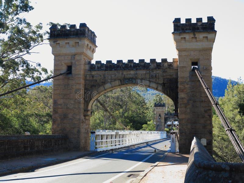 Architecture médiévale de pont dans l'Australie photographie stock libre de droits