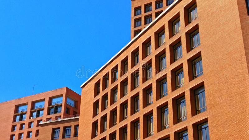 Architecture in Madrid royalty free stock photo
