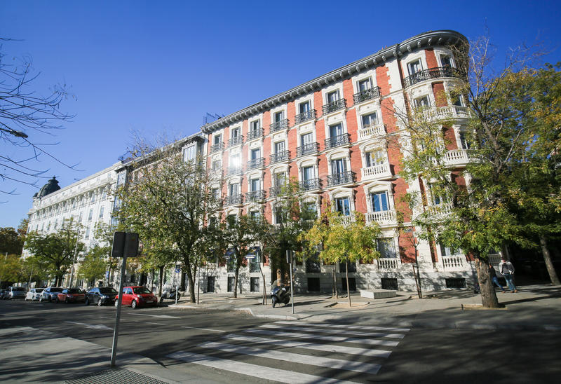 Architecture of Madrid, Spain royalty free stock images