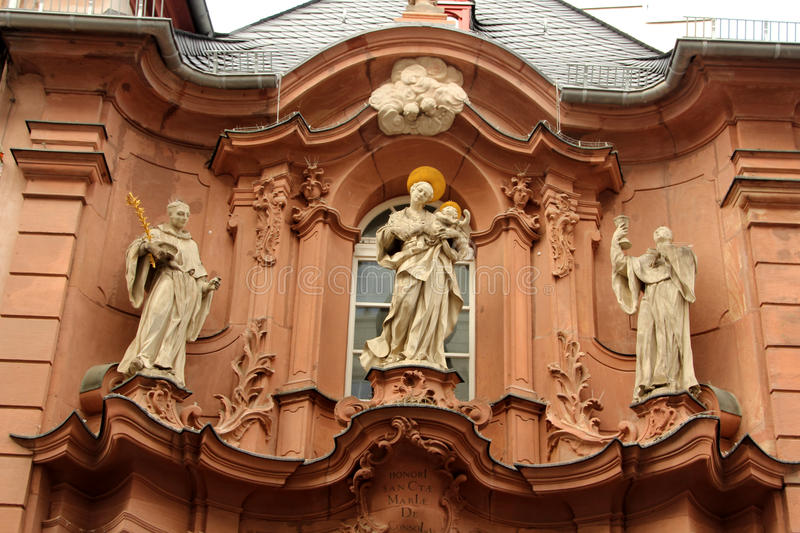 Architecture of Mainz, Germany stock image