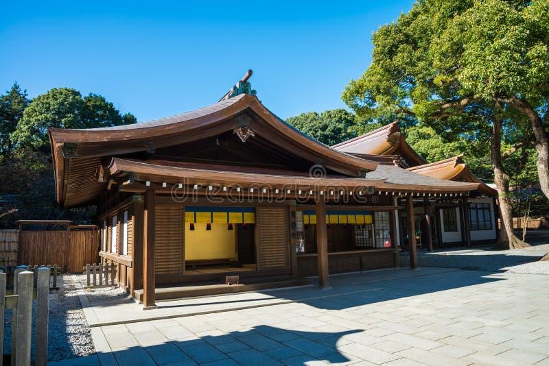 Architecture in Meiji-jingu shrine, Harajuku Tokyo Japan, Japanese traditional culture royalty free stock image